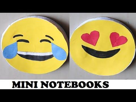 DIY - EMOJI MINI NOTEBOOKS || Easy Emoji Notebook for kids | Easy Gifts Idea