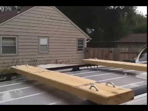 Homemade Vehicle Roof Rack Cross Member Youtube