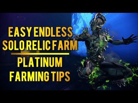 Warframe: EASY ENDLESS RELIC FARM + PLATINUM FARMING TIPS thumbnail