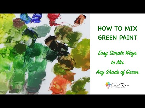 How To Mix Green Paint- Easy Simple Ways To Mix Any Shade Of Green