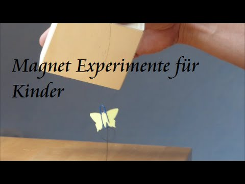 experimente f r kinder schwebend flatternder schmetterling magnet experiment youtube. Black Bedroom Furniture Sets. Home Design Ideas