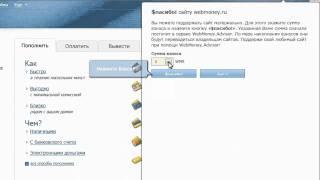 Поддержка сайтов с помощью Webmoney(Информация об электронных деньгах на сайте http://webmoneyinfo.net/, 2011-08-25T05:55:41.000Z)