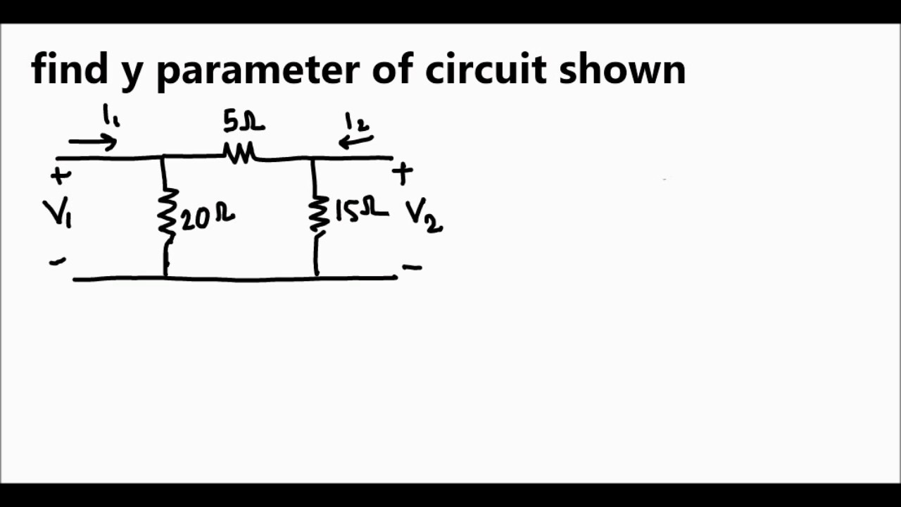 solving y parameter in electrical circuit in brief