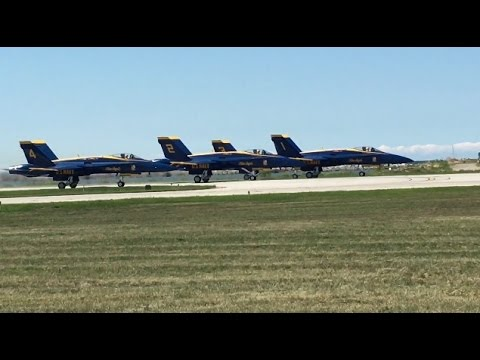 Cleveland National Airshow 2016: US Navy Blue Angels Movie