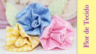 Flor de Tecido Como Fazer – Artesanato Tecido – Segredos de Aline
