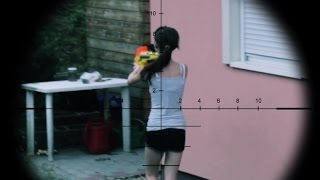 NERF WAR FIRST PERSON : BROTHER VS SISTER VS CAT