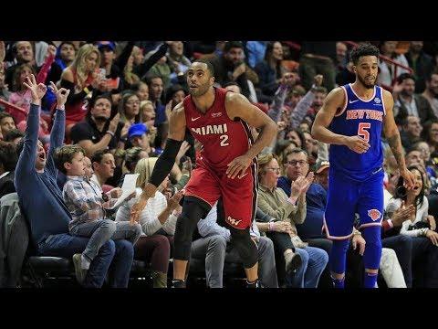 McDermott Forces Overtime! Ellington 24 Points Clutch 3! Knicks vs Heat 2017-18 Season