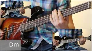 Как играть на бас гитаре Сказочная тайга - Агата Кристи  ( видеоурок Guitar riffs) + табы