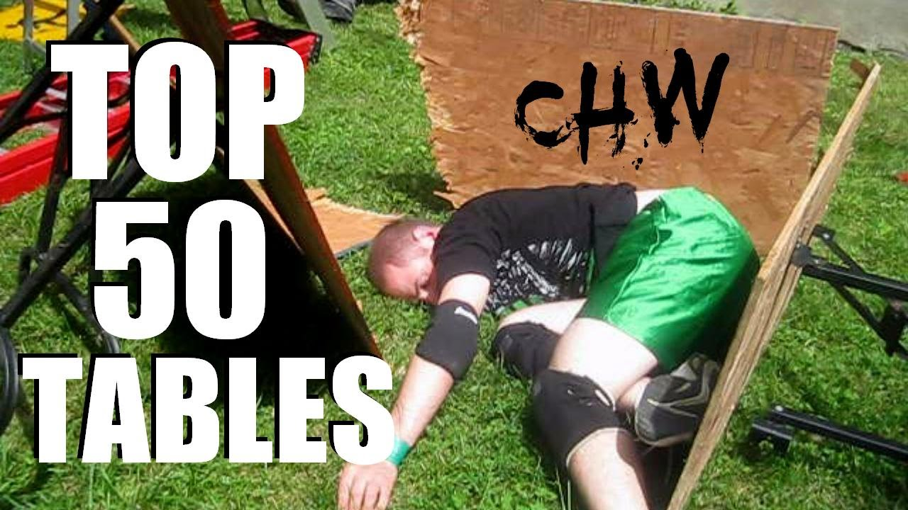top 50 tables updated chw backyard wrestling youtube
