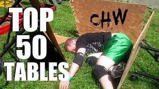 top 50 tables updated chw backyard wrestling