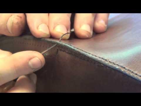 The box stitch on the custom holdall