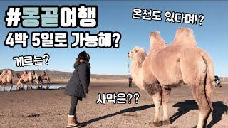 ??사막부터 온천까지, 몽골여행 알찬 후기!