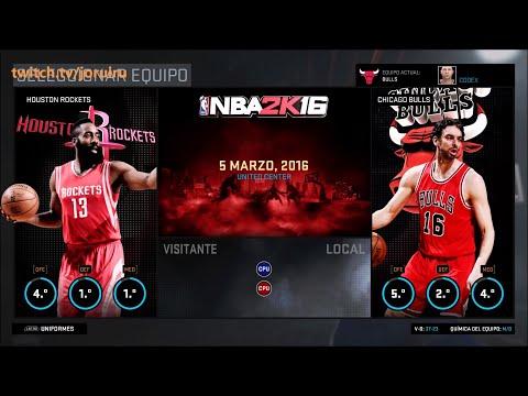 NBA 2K16 | Chicago Bulls Season | Match #61 | Bulls vs Rockets | PC