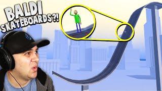 I LAUNCHED Baldi off a MASSIVE skateboard ramp! | Turbo Dismount