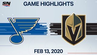 NHL Highlights | Blues vs. Golden Knights - Feb. 13, 2020