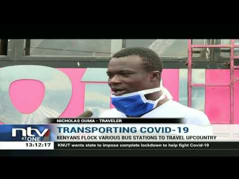 Kenyans Flock Bus Stations To Travel Upcountry Against Government's Advice