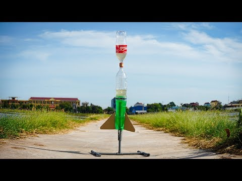 How To Make 3-Stage Water Rocket From Coca Cola & Pepsi Plastic Bottle