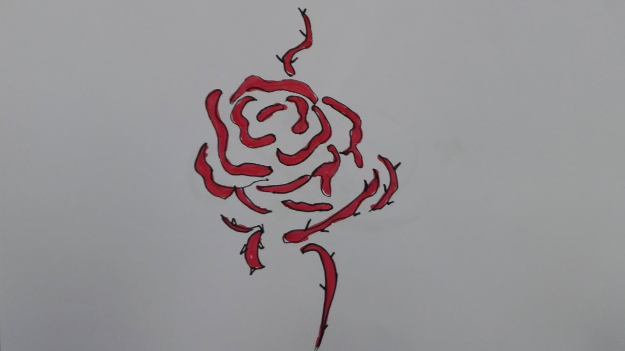 How To Draw A Rose Tattoo Traditional Rose Tattoo Drawing Draw