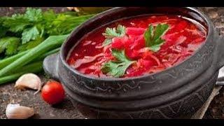 Рецепт борща из свеклы/Как приготовить борщ по-белорусски.