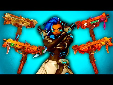 SOMBRA ALL GOLDEN GUNS in OVERWATCH (CYBERSPACE,LOS MUERTOS,AZUCAR,AUGMENTED,PEPPERMINT,) LEGENDARY
