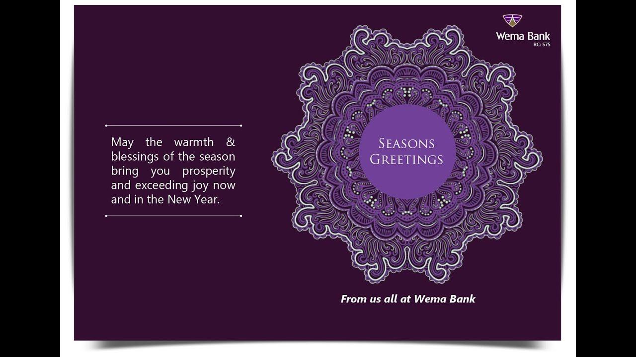 Seasons Greetings From Wema Bank Youtube
