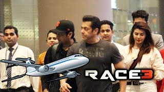Salman Khan And Jacqueline Back From RACE 3 BANGKOK Shoot, Spotted At Airport