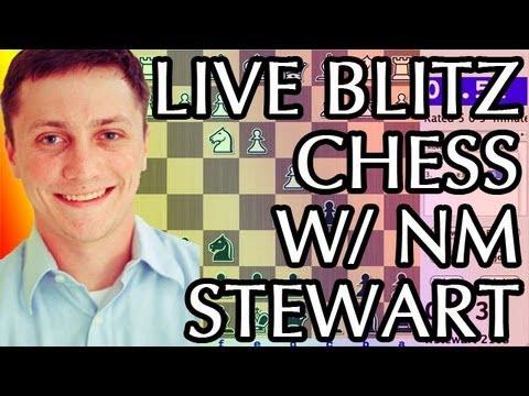 Live Blitz RapidChess on ICC - William Stewart vs. EEKarf (BONUS GAME!)