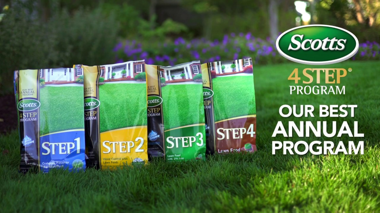 Scotts 4 Step Program Our Best Annual For Your Lawn