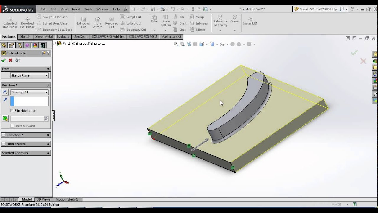 Solidworks Forming Tool - YouTube