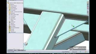 SolidWorks weldments / Structural steel framework