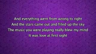 Kylie Minogue - Love At First Sight, Lyrics In Video