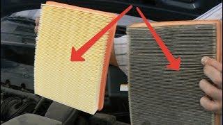 видео Для чего нужен воздушный фильтр? Когда его надо менять и как заменить?