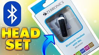 Zebronics BH503 Bluetooth Headset Unboxing and Review HINDI