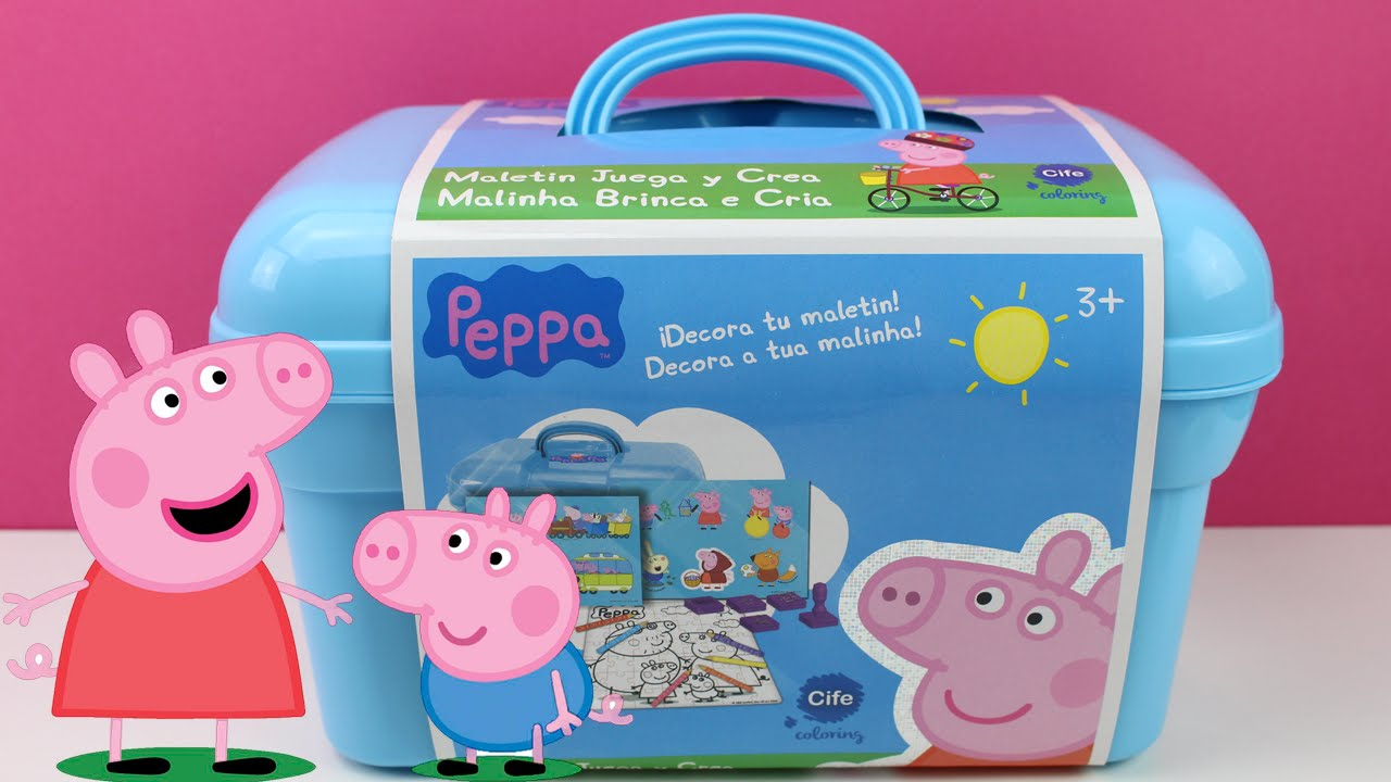 Peppa Pig  Maletn Juega y crea  Juguetes de Peppa Pig en