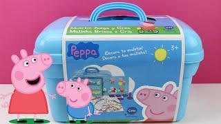 Peppa Pig - Maletín Juega y crea | Juguetes de Peppa Pig en español | Peppa la cerdita en español thumbnail