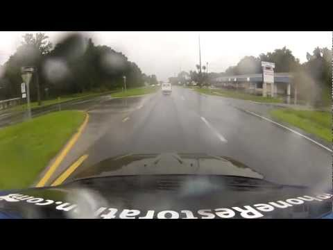 tropical storm debby go pro car ride Crystal River Florida 6/24/12