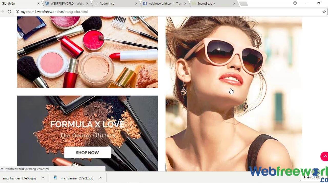 [ web mỹ phẩm ] 6 – Thêm  xóa sửa quảng cáo .