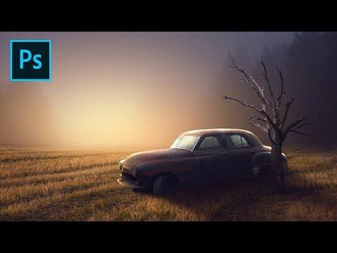 Photo Manipulation Effect Photoshop Tutorial - Old Car Dramatic Light thumbnail