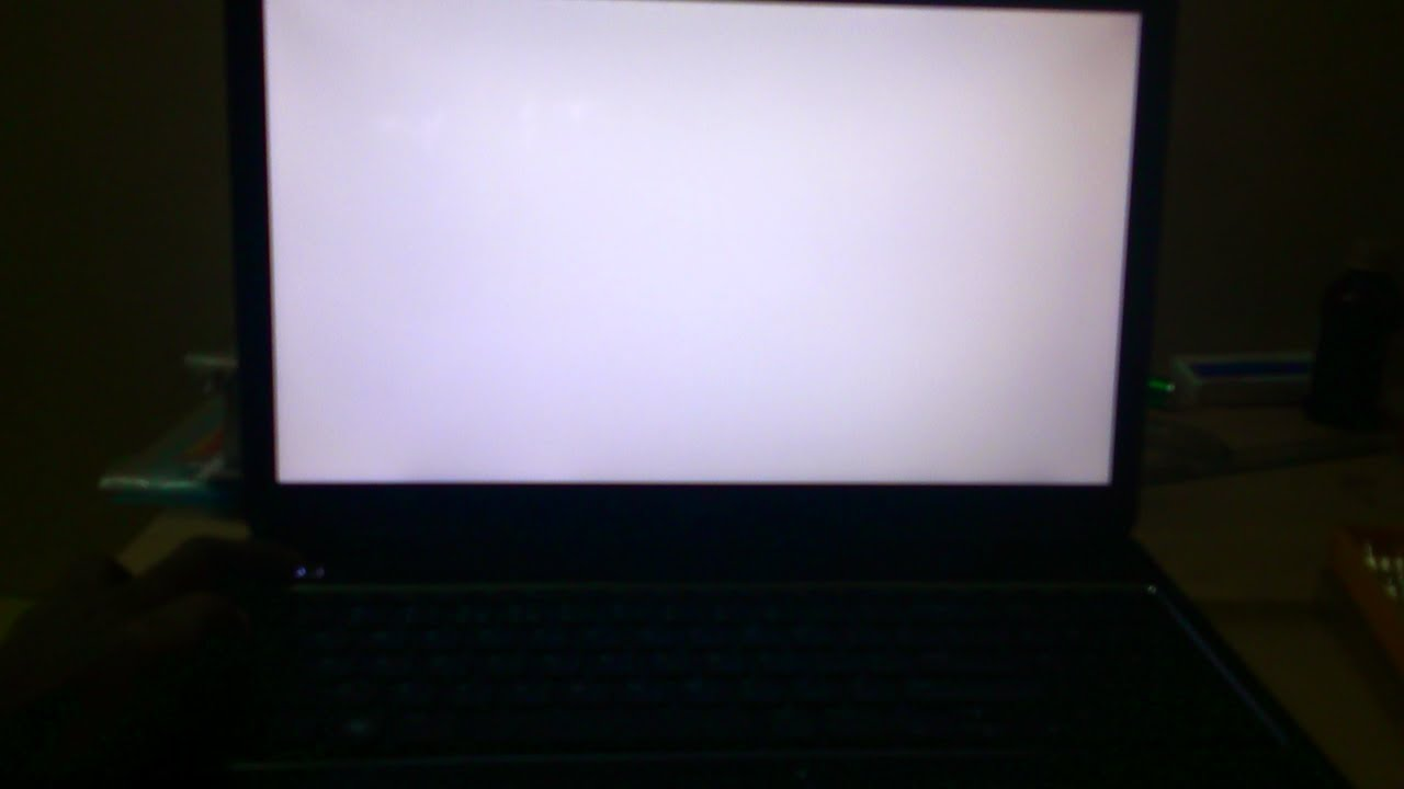 How To Fix The White Blank Screen Dell Tutorial Youtube