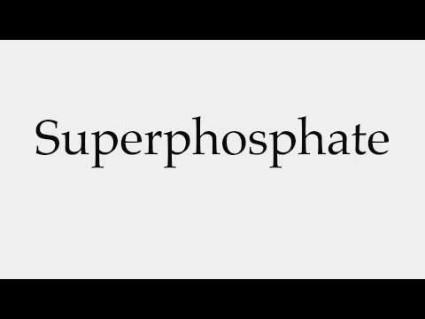 How to Pronounce Superphosphate