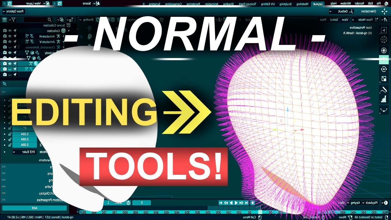 Blender Normal Editing TOOLS (In 2 Minutes!!)