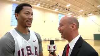 Derrick Rose from USA Basketball training in Chicago