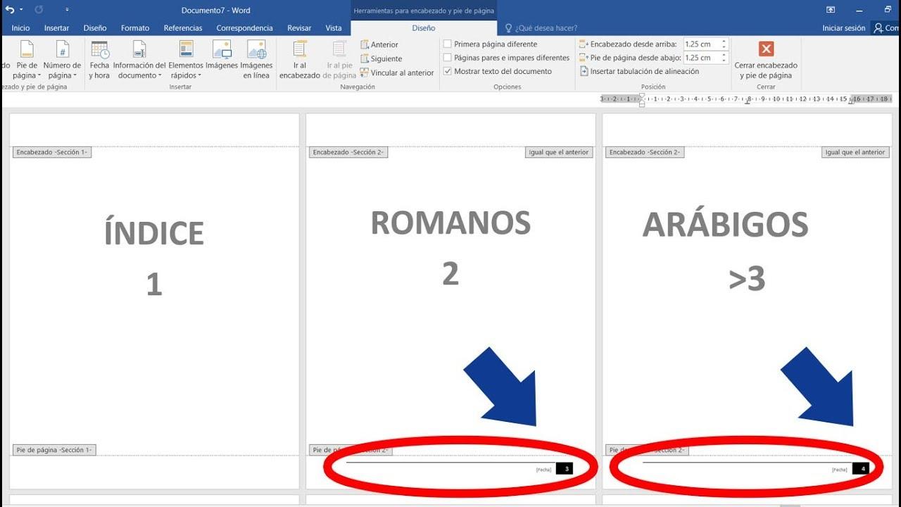 Página 3 De 5: Como Numerar En Romanos Y Arábigos En Un Mismo Documento