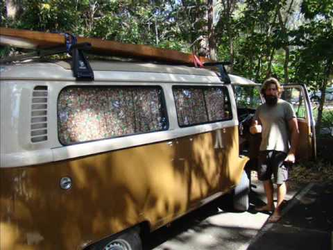 Vintage Pacific Surfcraft - Finless wooden surfboards by Parrish Watts - Tandem Surfing