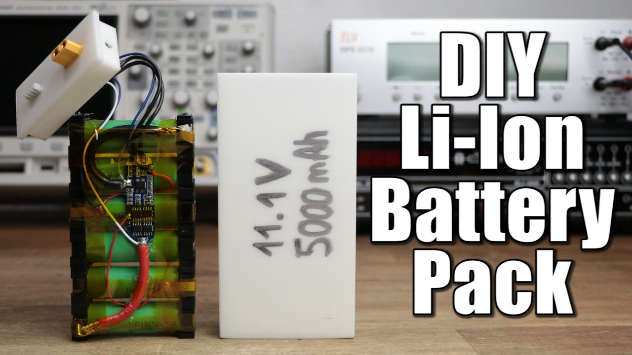 Make Your Own Li Ion Battery Pack Youtube 18650 2400mah Rechargeable Liion Batteries W Protection Circuit