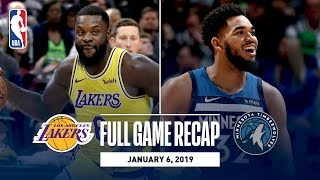 Full Game Recap: Lakers Vs Timberwolves   Wiggins And Towns Combine For 56 Points
