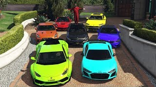 GTA 5 - Stealing Luxury Cars with Michael! (Real Life Cars #01)