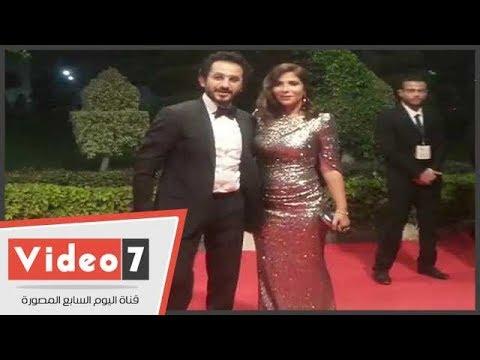 أحمد حلمى ومنى زكى فى حفل توزيع جوائز السينما العربية  - 23:21-2017 / 10 / 20