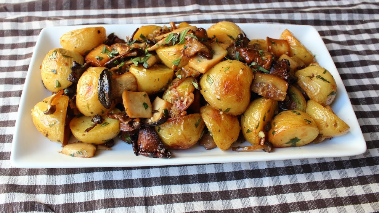 Roasted Wild Mushroom & Potato Salad - Fall Mushroom & Potato Side Dish Recipe   ...