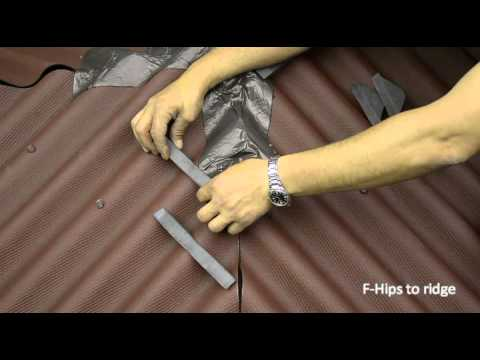 Ondura F Hips To Ridge Installation Youtube